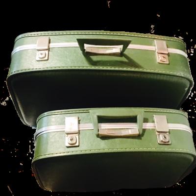 Set 2 valigie in cuoio