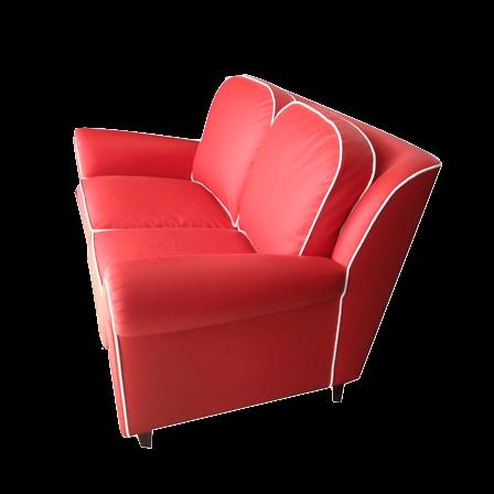 Divano in eco pelle rosso divani vintage bogys50s - Divano rosso pelle ...