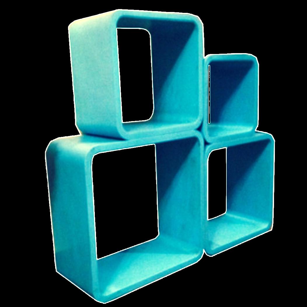 Cubi libreria in legno arredamento vintage bogys50s for Cubi in legno arredamento