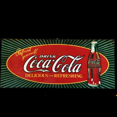 Quadretto in legno drink Coca Cola
