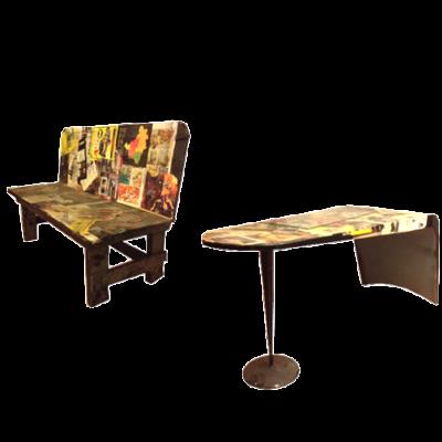Tavolo e panca Fiorucci