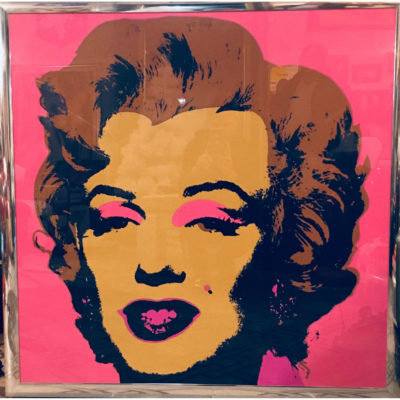 Serigrafia americana Andy Warhol Marilyn Monroe Blonde on Pink