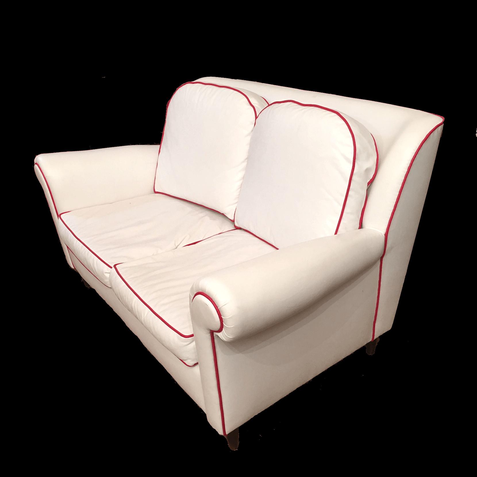 Divano in eco pelle bianco divani vintage bogys50s for Divano pelle bianco