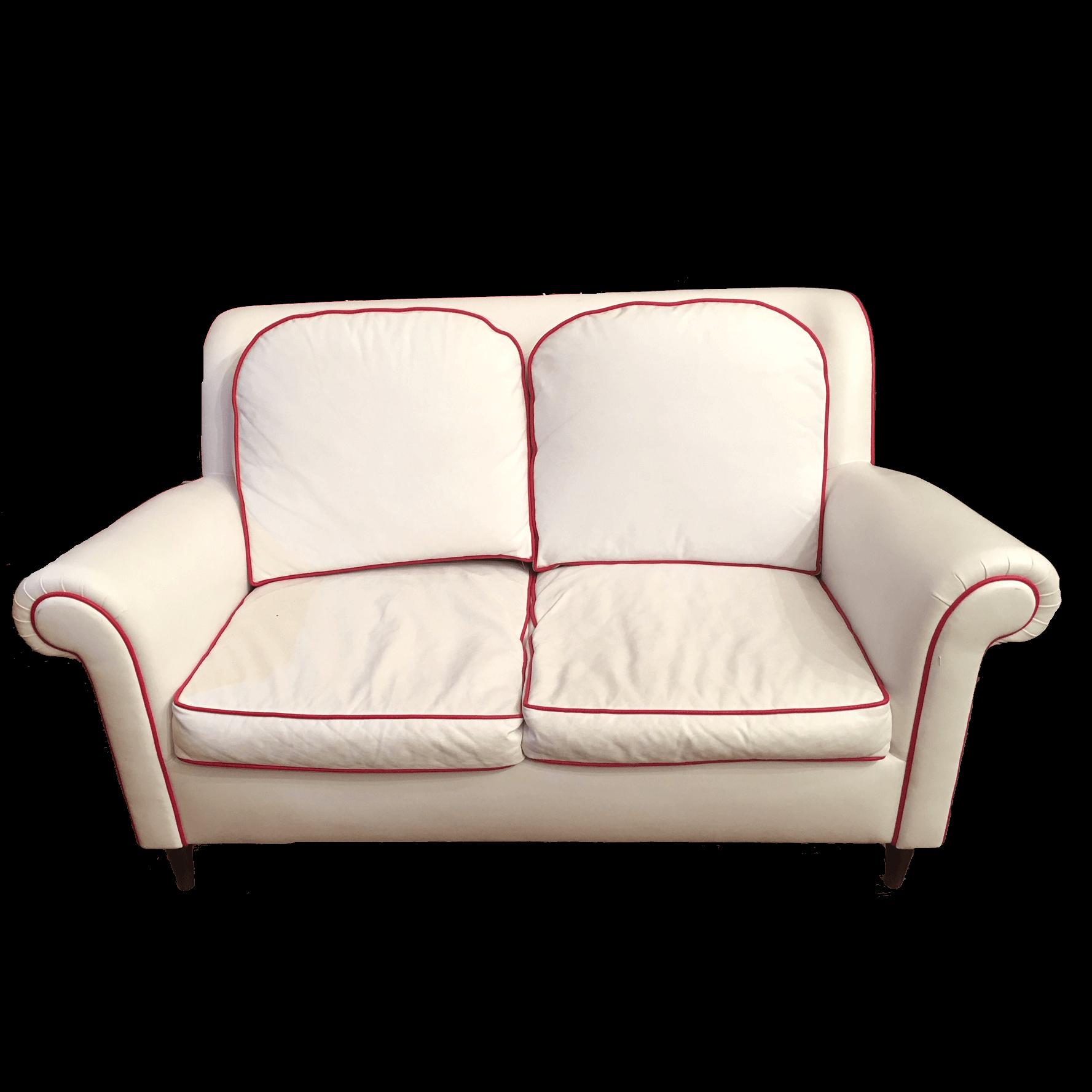 Divano in eco pelle bianco divani vintage bogys50s - Divano in pelle bianco ...